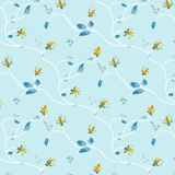 Rosebud pattern design Stock Photo