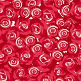 Seamless pattern of rosebuds Stock Images
