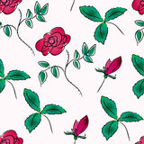 Seamless pattern with roses Stock Images