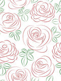 Seamless pattern with roses. Seamless pattern with red roses Stock Image