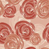 Seamless pattern with roses. Seamless pattern with red roses Royalty Free Stock Photos