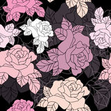 Seamless pattern of roses Royalty Free Stock Photos