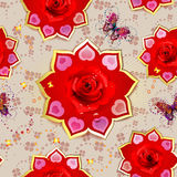 Seamless pattern with roses Stock Photography