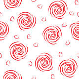 Seamless pattern of roses Stock Photo