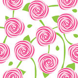 Seamless pattern of roses Royalty Free Stock Photography
