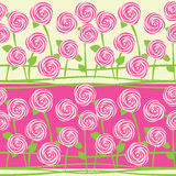 Seamless pattern of roses Stock Photography