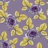 Seamless pattern with roses Royalty Free Stock Photos