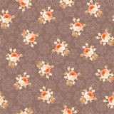 Seamless pattern with roses on a background of snowflakes royalty free illustration