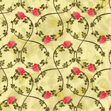 Seamless pattern with roses Royalty Free Stock Images