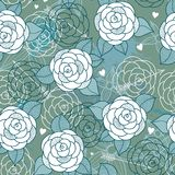 Seamless pattern with roses. Royalty Free Stock Photo