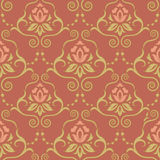 Seamless pattern with roses. Damask seamless pattern for design. Vector Illustration vector illustration