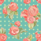 Seamless  pattern with roses Royalty Free Stock Photo