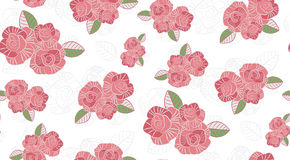 Seamless pattern of the roses Royalty Free Stock Photo