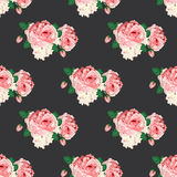Seamless pattern with roses for design. royalty free illustration