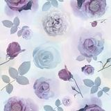 Seamless   pattern with roses. Endless texture for your design Stock Photo