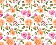 Seamless pattern with roses. Floral background. design composition Royalty Free Stock Image
