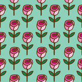 Seamless pattern of  roses flower Royalty Free Stock Images