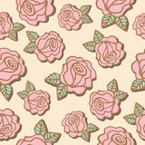 Seamless pattern of  roses flower Stock Image
