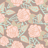 Seamless pattern of  roses flower Royalty Free Stock Photo
