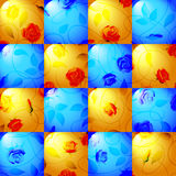 Seamless pattern with roses. Stock Photo