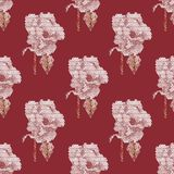 Seamless pattern. Roses. Geometric background in origami style. Seamless polygons. Roses. Geometric background in origami style. Rose of triangles Stock Photo