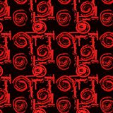 Seamless pattern from roses and geometric pattern. stock illustration