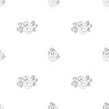 Seamless pattern with roses Stock Photos