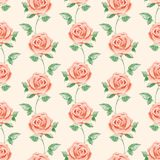 Seamless pattern. Roses Royalty Free Stock Photography