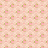 Seamless pattern with roses and hearts Stock Photo