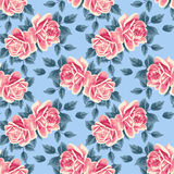 Seamless pattern with roses Stock Photo