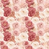 Seamless   pattern with roses and leaves Stock Image