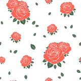 Seamless pattern with roses. Vector illustration stock photography