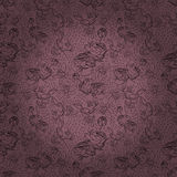 Seamless pattern with roses and orchid flowers Stock Photography