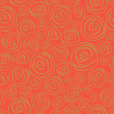 Seamless pattern of roses. Red background. Royalty Free Stock Photo