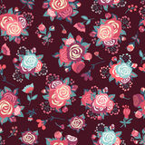Seamless pattern with roses. Royalty Free Stock Image