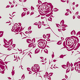 Seamless pattern with roses. Vector floral background Stock Images