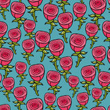 Seamless pattern with roses. stock illustration
