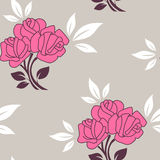 Seamless pattern with roses Royalty Free Stock Image