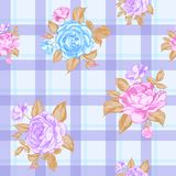 Seamless pattern with roses. Royalty Free Stock Images
