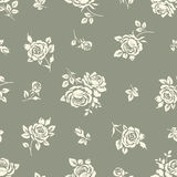 Seamless pattern with roses. Vintage background with blooming roses. Floral wallpaper Royalty Free Stock Image
