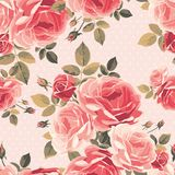 Seamless pattern with roses. Vintage floral background. royalty free illustration