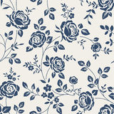 Seamless pattern with roses. Vintage floral background. Stock Photo