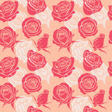 Seamless pattern with roses. vintage love abstract vector background Stock Photography