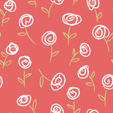 Seamless pattern with roses Royalty Free Stock Photography