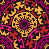 Seamless Pattern with rotated tribal elements Stock Photos