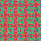Seamless pattern with rotating colourful shapes Stock Images