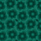 Seamless pattern with rotating green octagonal stars Stock Photo