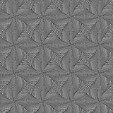 Seamless pattern with rotating monochrome shapes Royalty Free Stock Photography