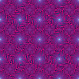 Seamless pattern with rotating octagonal stars Stock Photography