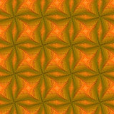 Seamless pattern with rotating yellow shapes Stock Photo